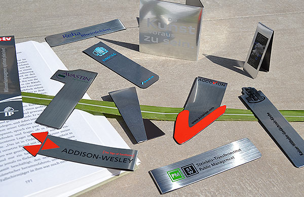 Magnet-Lesezeichen Aluminium