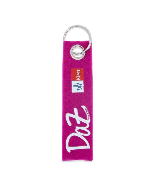 Schlüsselanhänger Filz pink - DAZugehören Klett mit Schlüsselring