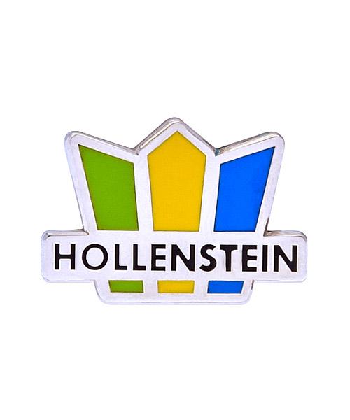 Pin geprägt und 4-farbig emailliert in Hartemaille