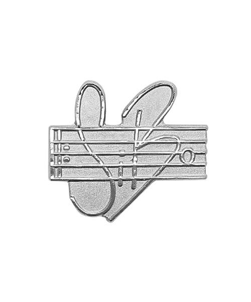 Pins und Anstecker geprägt in Sandkorn - Optik Motiv SiBo Posauenenchor