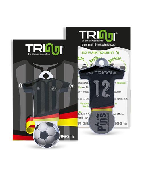 """Einkaufswagenlöser TRIGGI® Modell TR-460 """"Fussball-Trikot"""" - Einkaufswagenchips bedrucken"""