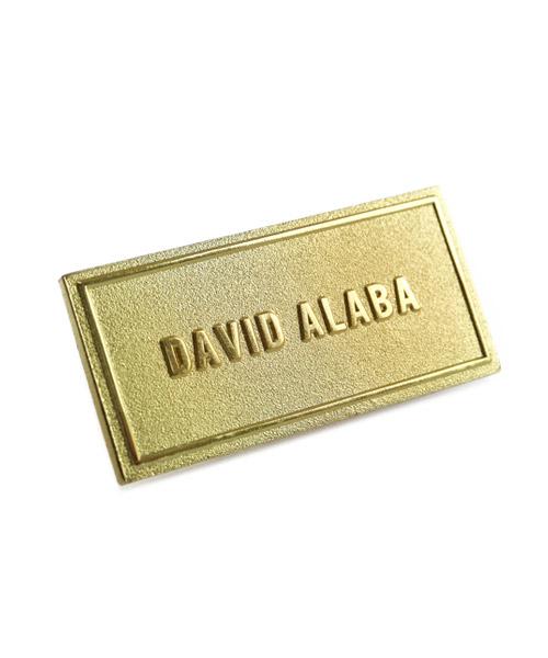 Pins und Anstecker geprägt in Sandkorn - Optik Motiv David Alaba