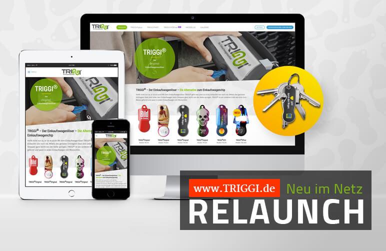 TRIGGI® Einkaufswagenlöser - Website-Relaunch beim Marken-Einkaufschip