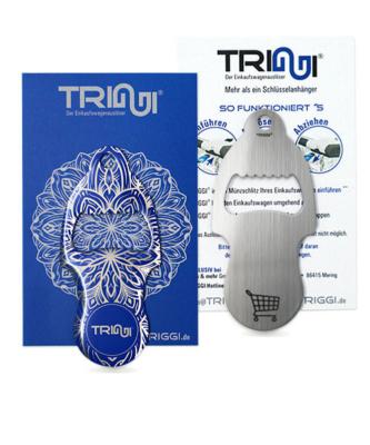 """Einkaufswagenlöser TRIGGI®Öffner Modell TRo-002 """"Mandala Blue"""" - Einkaufswagenchips bedrucken"""