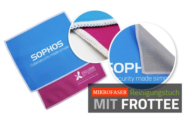 Doppeltes Mikrofaser Reinigungstuch mit Frottee-Rückseite zur Brillenreinigung