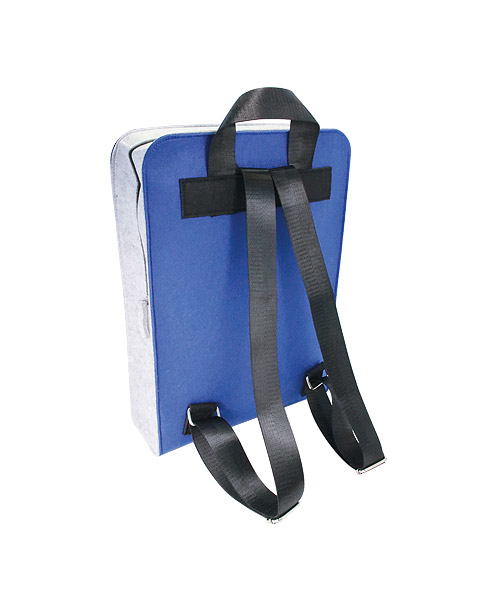 Filzrucksack 2-farbig bestickt oder bedruckt mit Ihrem individuellen Logo
