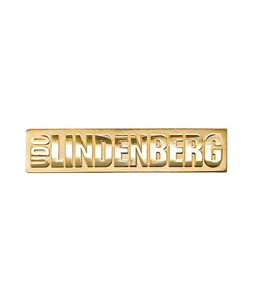 Pins und Anstecker geprägt in Sandkorn - Optik Motiv Udo Lindenberg