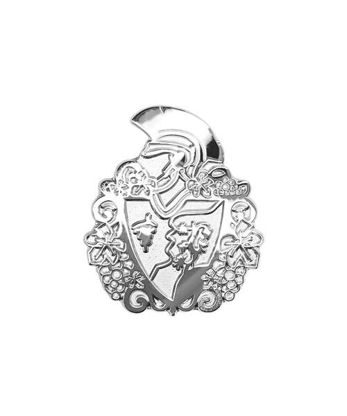 Pins und Anstecker geprägt in Sandkorn - Optik Motiv Wappen