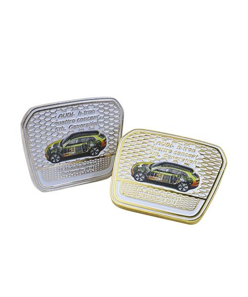 Pin, geprägt und emailliert mit Offsetdruck Modellautobörse