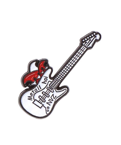 """Pin im Spritzguss, 2-farbig emailliert in Weichemaille """"Gitarre"""""""