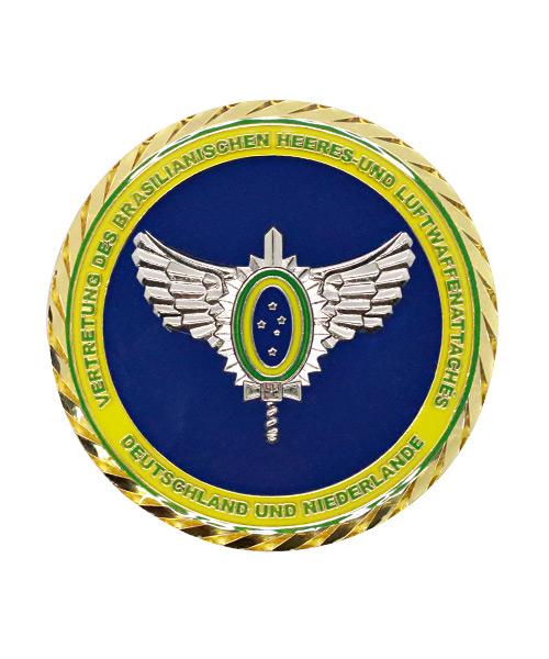 Münze Medaille Spritzguss Emailliert Brasilien Heer