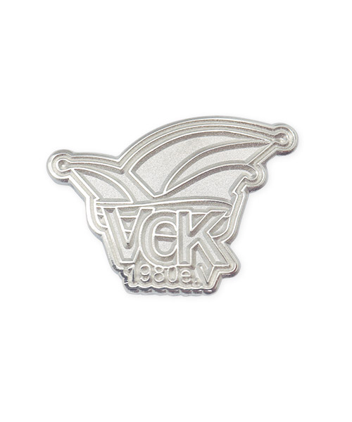 Pin Werbepins, Fasching VCK e.v. Karneval silber