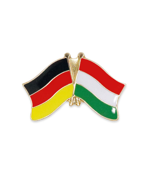 Werbepins, Pins, Anstecker - Freundschaft Fahne Deutschland Ungarn