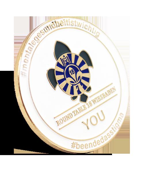 Plaketten und Medaillen Round Table Wiesbaden #mentalegesundheitistwichtig 3D