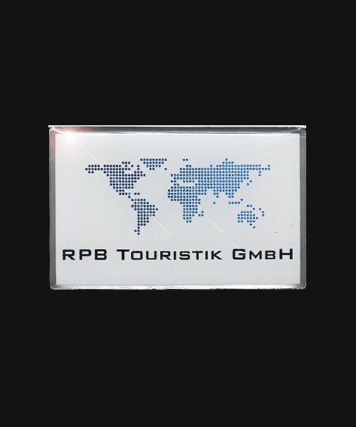 Pin, bedruckt im Offsetdruck RPB Touristik GmbH Vorderseite