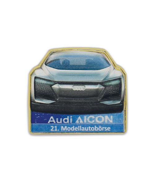 Werbepins, Anstecker, Pin - Audi Aicon Gold Modellautobörse