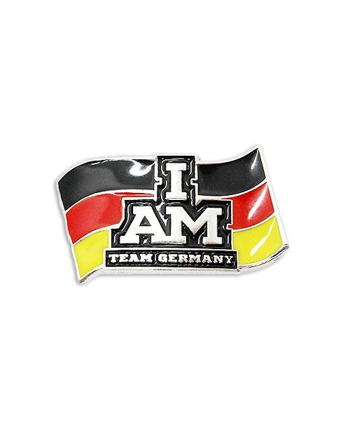 Werbepins, Anstecker, Pins - Fahne I am Team Germany